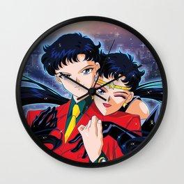 Seiya VS Sailor Starfighter Wall Clock
