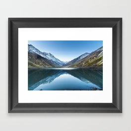 Saif-ul-mulook lake in Pakistan Framed Art Print