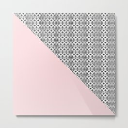 two triangles - blush and small xo Metal Print