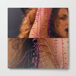 The woman Metal Print
