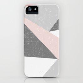 Grunge Geometric Retro Pattern iPhone Case
