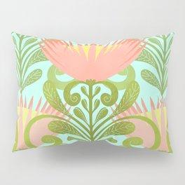King Protea Flower Pattern - Turquoise Pillow Sham