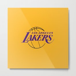 LA LAKERS LOGO Metal Print