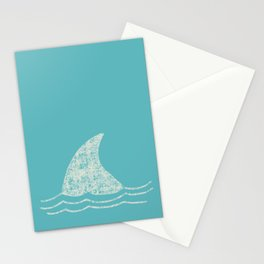 Beach Series Aqua - Shark Animal in the deep See Stationery Cards