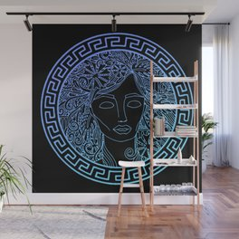 GREEK GODDESS in TURQUOISE Wall Mural