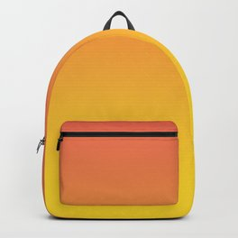 Pantone Living Coral & Vibrant Yellow Gradient Ombre Blend Backpack