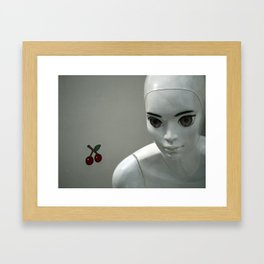 sad eyes | traurige Augen Framed Art Print