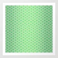 Green Mermaid Scales Art Print