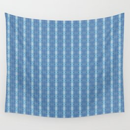 Sky Blue Winter Clouds Vertical Patten Wall Tapestry