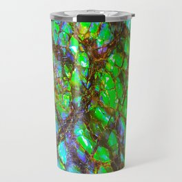 Peacock Ammolite Travel Mug