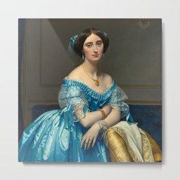 "Jean-Auguste-Dominique Ingres ""Éléonore-Marie-Pauline de Galard de Brassac de Béarn (1825–1860), princesse de Broglie"" Metal Print"