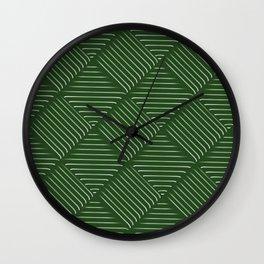 Diagonal Stripes Background 34 Wall Clock