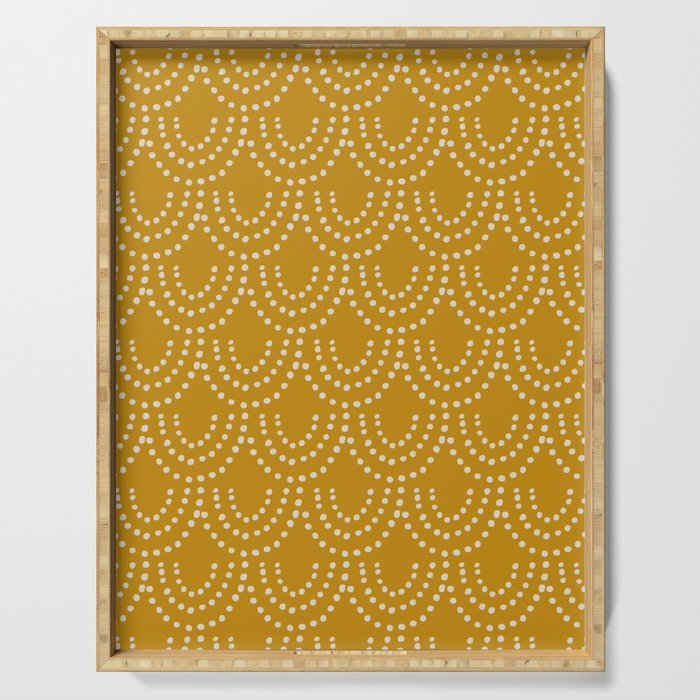 Dotted Scallop in Gold Serving Tray