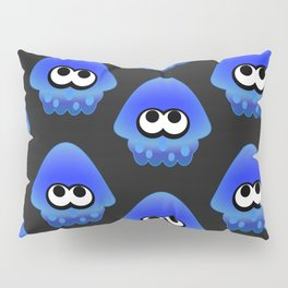 Splatoon Squid Pattern Blue Pillow Sham