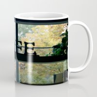 cafe Mugs featuring Cafe by Kasia Wo