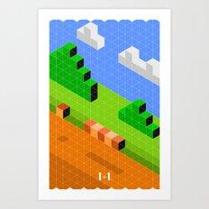 Mario World 1-1 Art Print