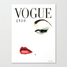Vintage Vogue Magazine Cover. Fashion Illustration. Canvas Print
