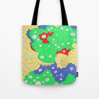 jenny liz rome Tote Bags featuring Liz by Amanda Trader