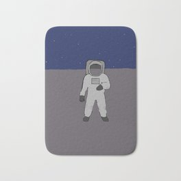 Man on a planet Bath Mat