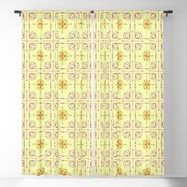 Vintage tiles Blackout Curtain