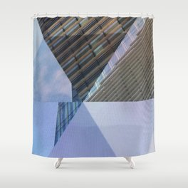 Abstract Architectural Geometric Designs Shower Curtain
