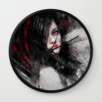 passion Wall Clocks featuring Passion by Kanelov