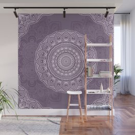 White Lace on Lavender Wall Mural