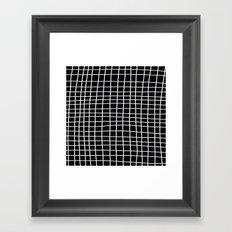 Handdawn Grid Black Framed Art Print