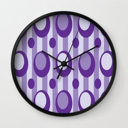 Purple Moons Wall Clock
