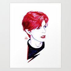 The Stars Look Very Different Today // Bowie Art Print