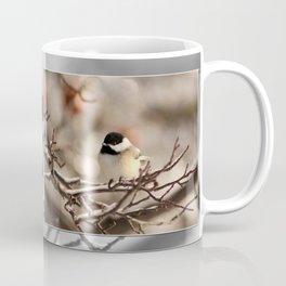 Black-Capped Chickadee in Winter Coffee Mug