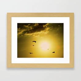 Sunset at Clearwater Framed Art Print