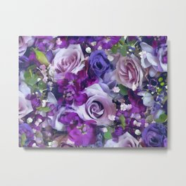 Romantic flowers III Metal Print