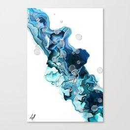 Alcohol Ink Blue Swipe Canvas Print