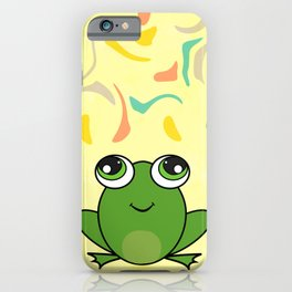 Cute frog looking up iPhone Case
