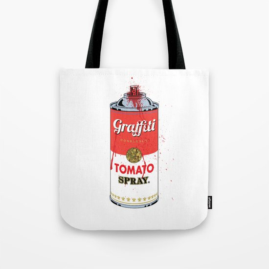Graffiti Tomato Spray Can Tote Bag