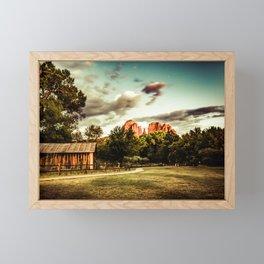 Southwest Chimney Rock Vortex Sedona Arizona Framed Mini Art Print
