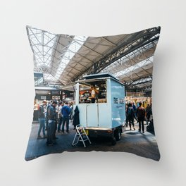 Old Spitalfields Market in London Throw Pillow