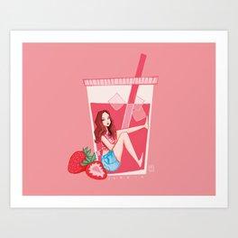 Blackpink Strawberry Jennie Art Print