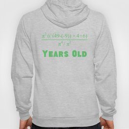70 Years Old Algebra Equation 70th Birthday Hoody