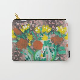 Yellow and Orange Flowers in a Vase Carry-All Pouch