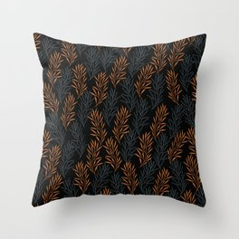 Scandi Fir Branches Throw Pillow