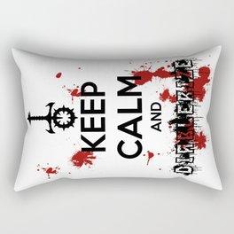 Keep Calm and Diablerize Rectangular Pillow