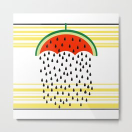 raining seeds stripes Metal Print