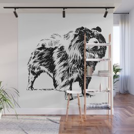 Cute Chow Chow Dog Wall Mural