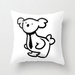 Business Koala Throw Pillow