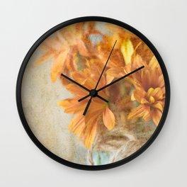 Mason Jar Daisy Bunch Wall Clock
