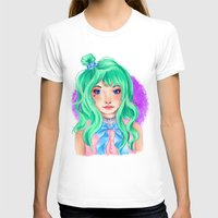 mint T-shirts featuring Mint by Hetty's Art