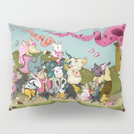 Cute animals parade, inspired by Orwell's Animal Farm but sweet Pillow Sham
