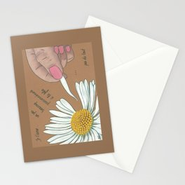 Je t'aime...un peu...beaucoup Stationery Cards
